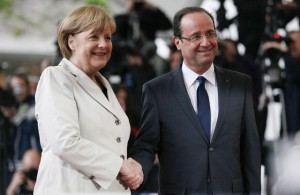 Merkel Hollande - pogorszenie sentymentów wśród inwestorów
