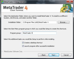 Wybó folderu instalacji programu